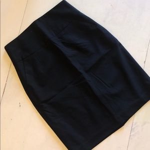 High waisted black dress skirt